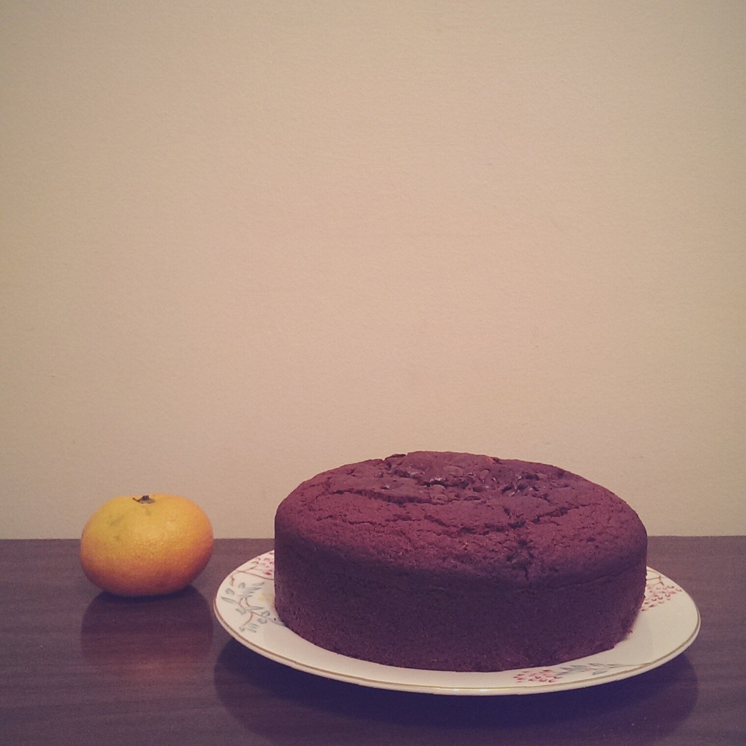 portrait of a gluten free ginger cake