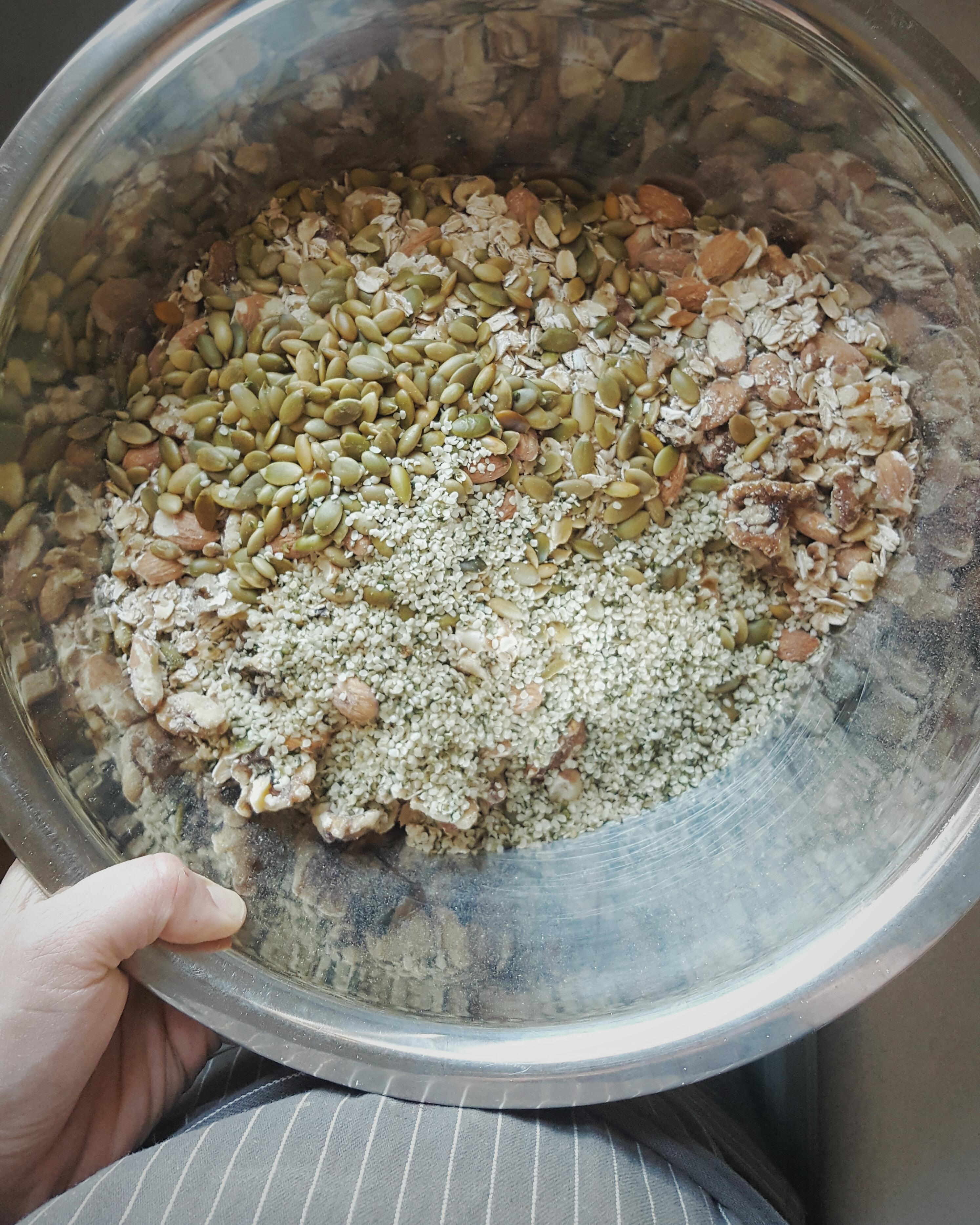cocoa coffee coconut granola - 1