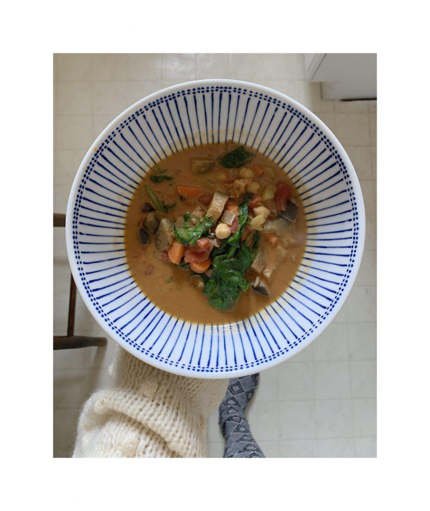 Peanut tomato coconut stew